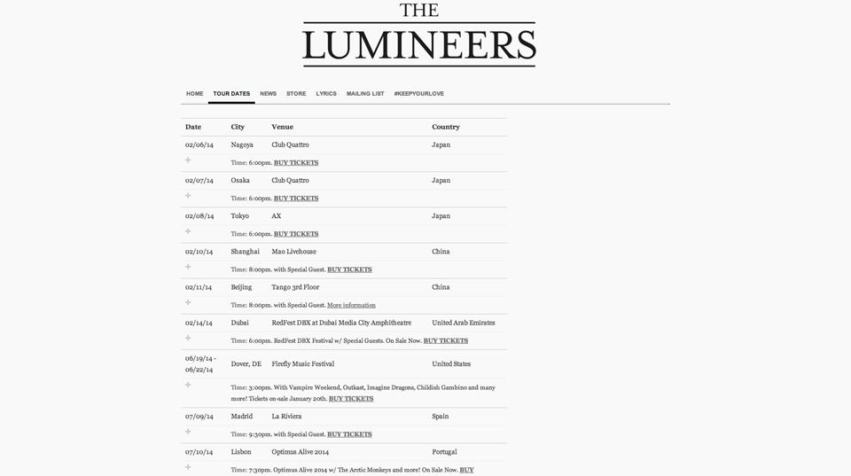 thelumineers-wordpress-tour