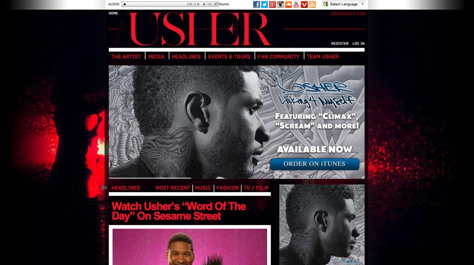 usher-wordpress-homepage