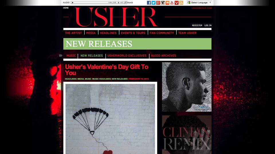 usher-wordpress-music