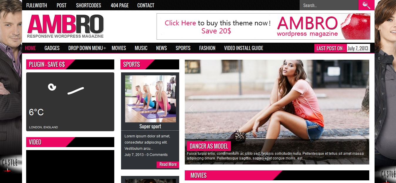Ambro responsive magazine wordpress theme