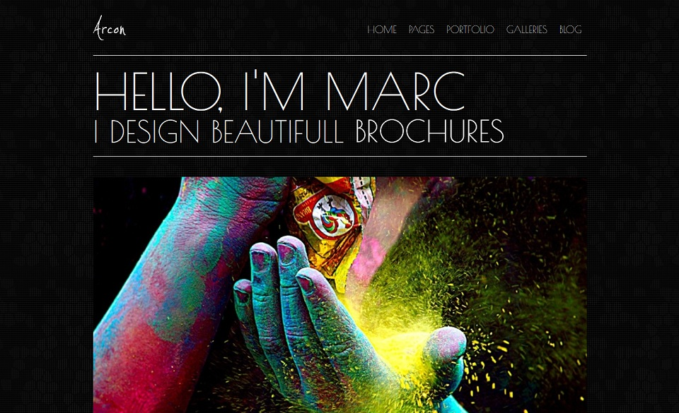 Arcon – Stunning WordPress Portfolio Theme