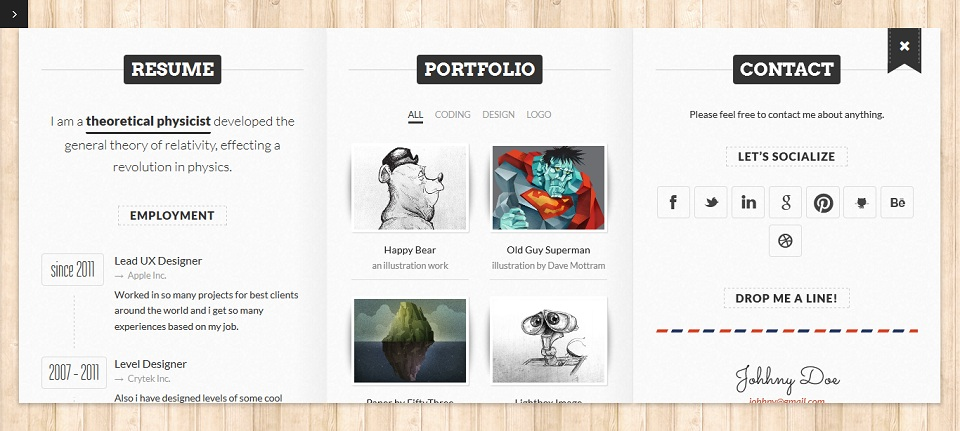 BookCard WP - Responsive 3D Folded vCard WordPress Theme