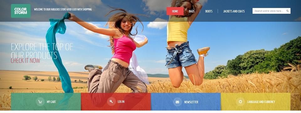 Colorstorm - Responsive & Retina Ready Magento Theme