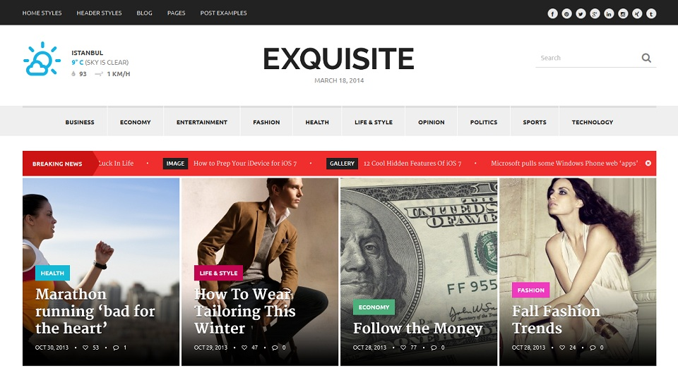 Exquisite Premium Newspaper Theme _Full_Responsive_WordPress_Magazine_Theme