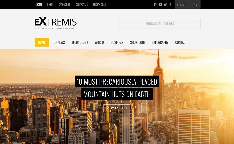 Extremis - Responsive Blog Magazine Theme