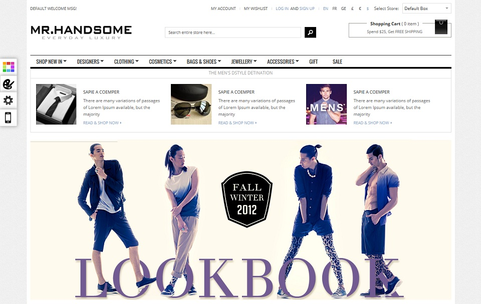 GalaMrhandsome Magento Theme
