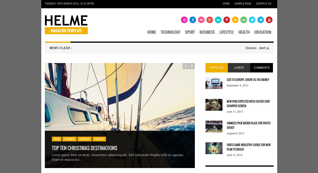 Helme WordPress Theme