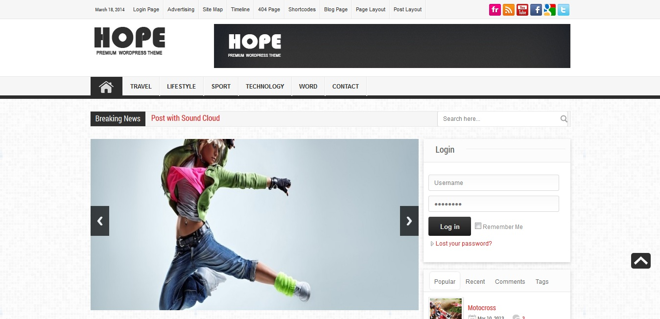Hope - Premium News-Magazine Theme
