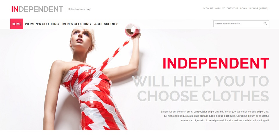 Independent - Responsive Magento Theme