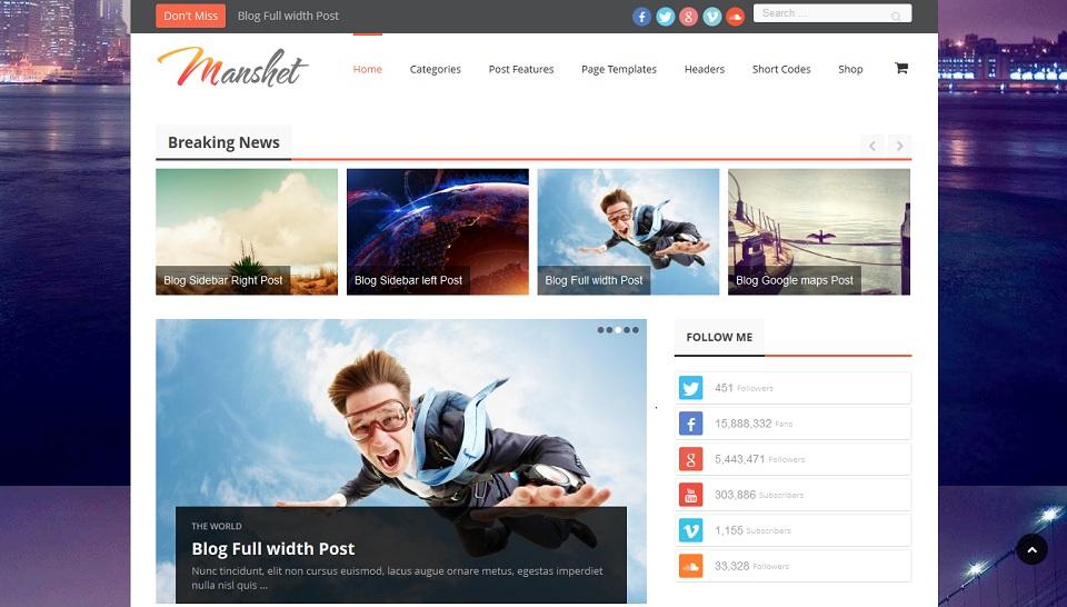 Manshet - Retina Responsive_WordPress_Magazine_Theme