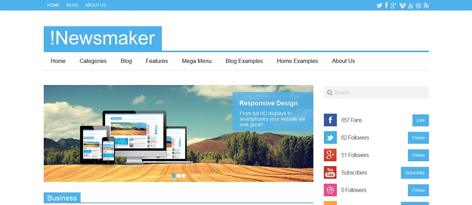 !Newsmaker_WordPress_Magazine_Theme