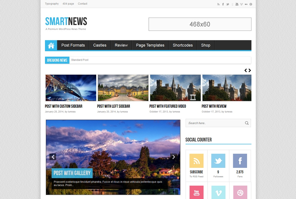 SmartNews - A Premium WordPress News Theme