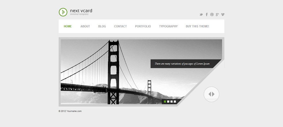 next_vcard_WordPress_Theme