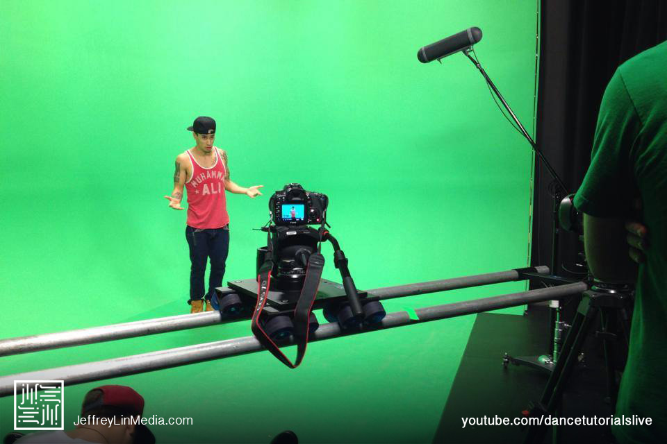 CJ Salvador Behind the Scenes Dance Tutorials LIVE Green Screen