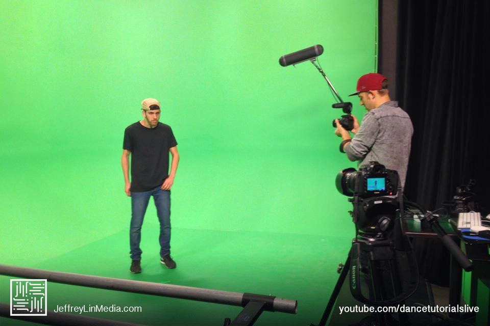 Jake Kodish Behind the Scenes Dance Tutorials LIVE Green Screen