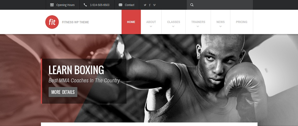 FIT – Fitness-Gym WordPress Theme