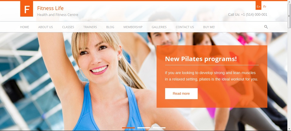 Fitness Life - Gym-Fitness WordPress Theme Preview - ThemeForest