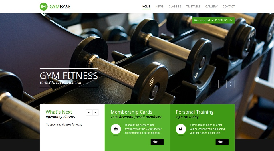GymBase - Responsive WordPress Gym Fitness Theme