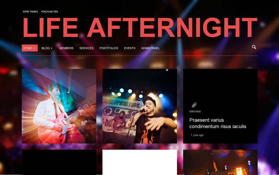 Life Afternight » Stylish and minimalist theme