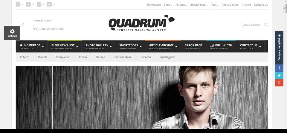 Quadrum - Multipurpose News&Magazine Theme Preview - ThemeForest