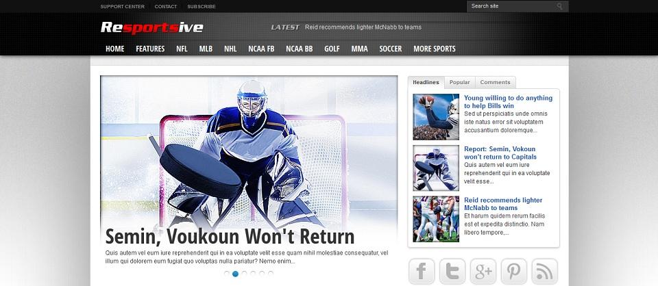 Resportsive Theme - A Responsive Sports News Theme