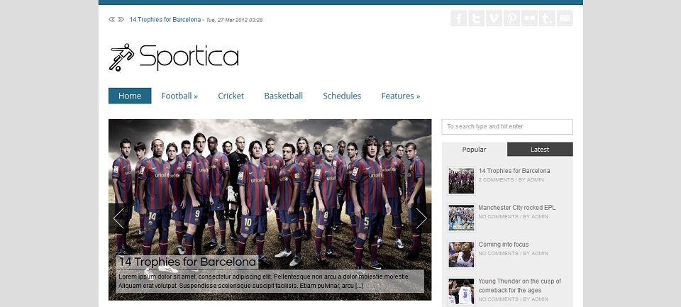 SPORTICA - Responsive WordPress Sports Theme