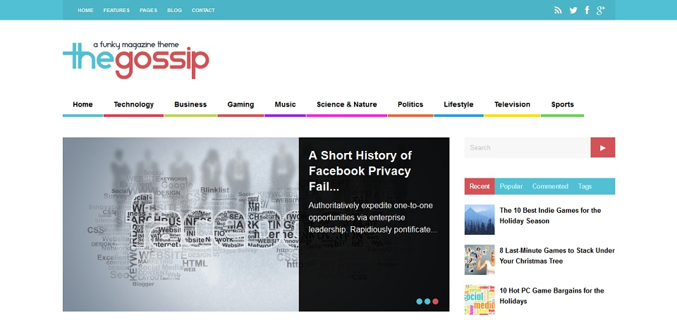The Gossip - A Funky Magazine WordPress Theme