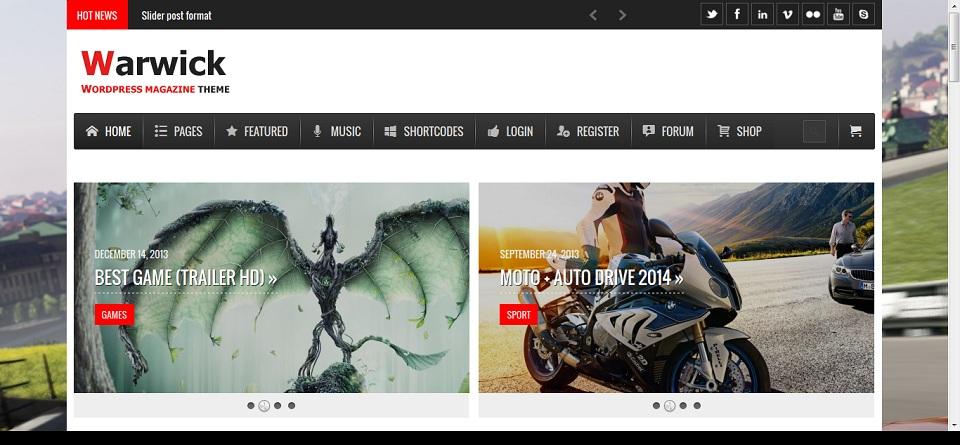 Warwick - Responsive News-Magazine WordPress Theme Preview - ThemeForest