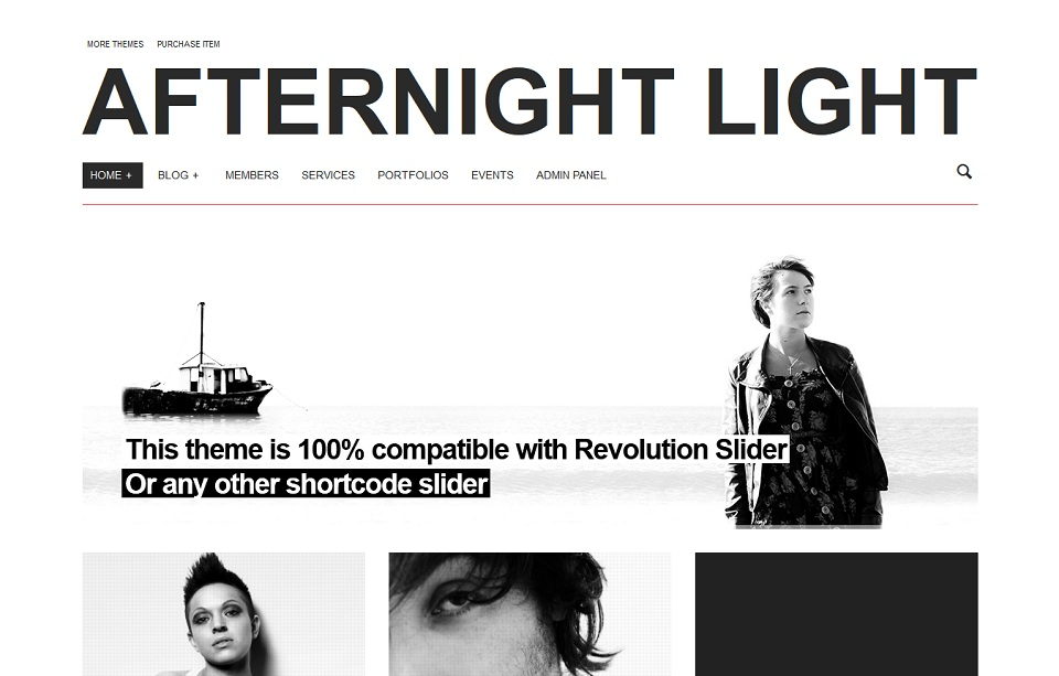 Afternight Light  - WordPress theme