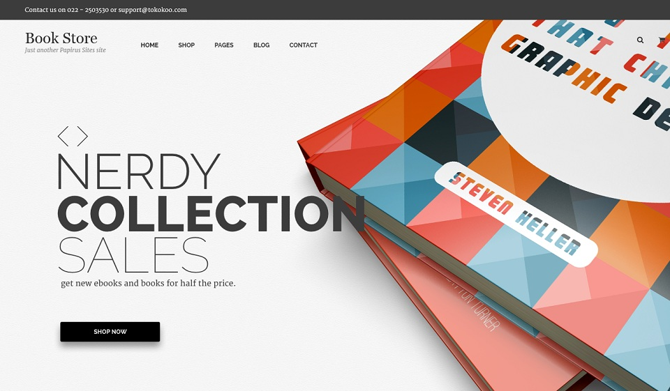 Book Store  - WordPress theme