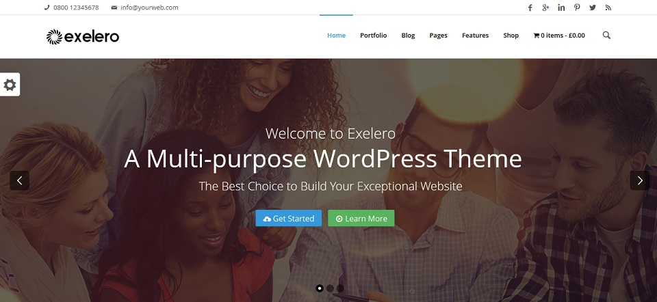 Exelero - Multi-purpose WordPress Theme