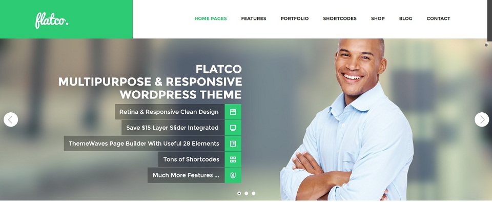 Flatco  - WordPress theme