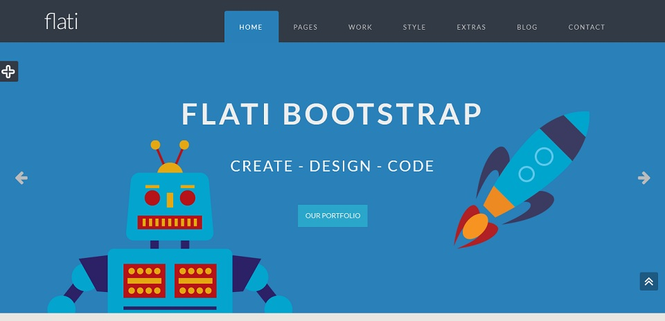 Flati – Responsive Flat Boostrap Theme