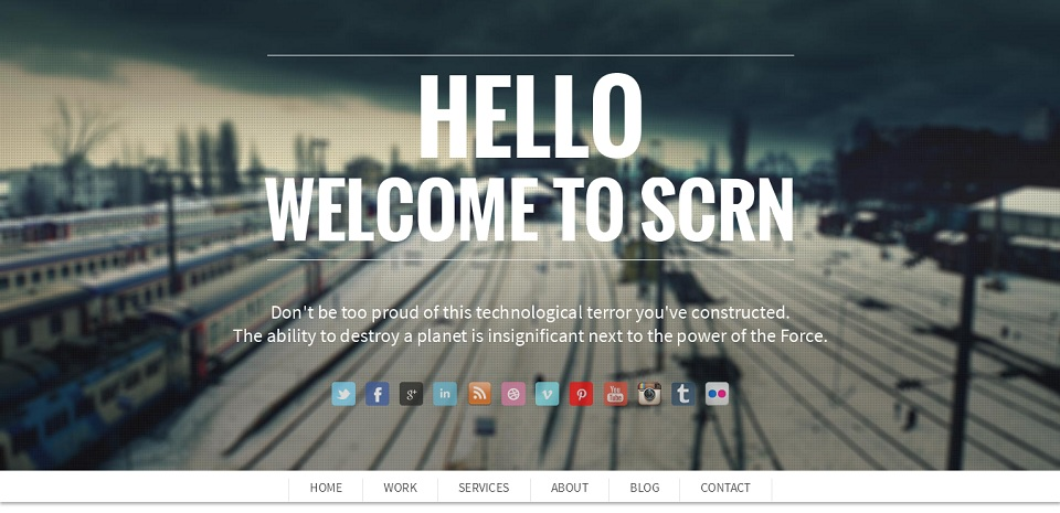 SCRN - WordPress theme