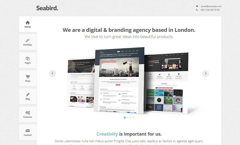 Seabird  - WordPress theme
