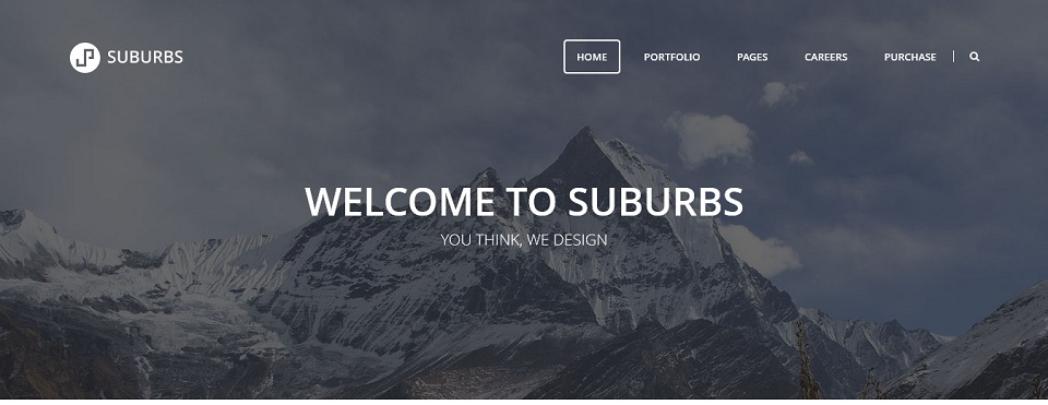 Suburbs  - WordPress theme