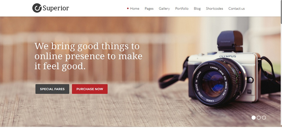 Superior - Multipurpose Responsive WordPress theme