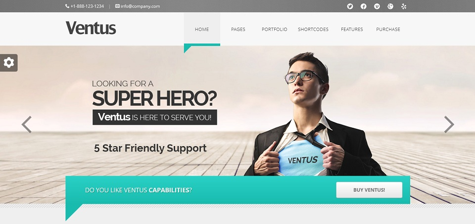 Ventus Premium Business WordPress Theme