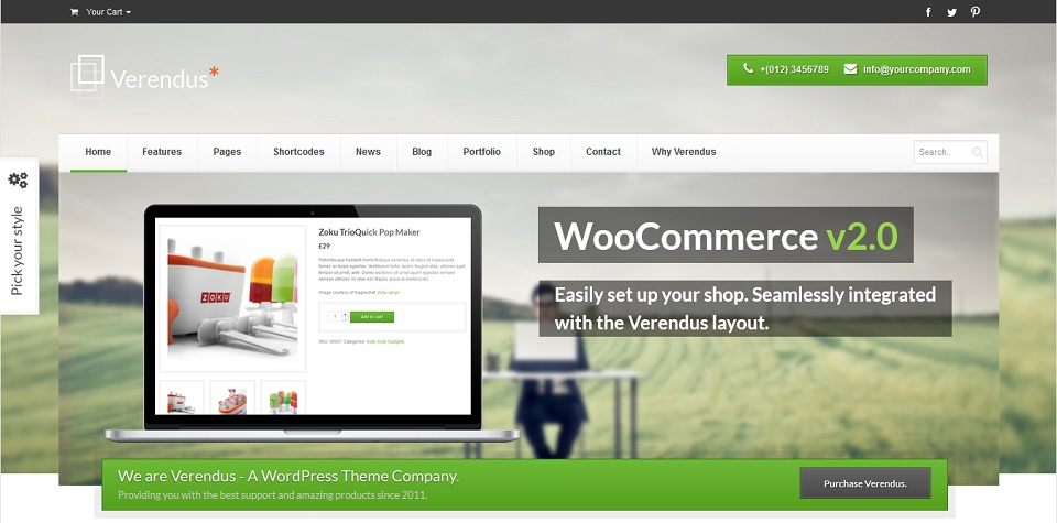 Verendus  - WordPress theme