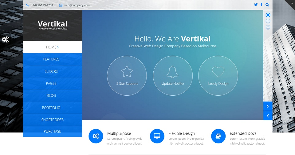 Vertikal - Responsive WordPress Theme